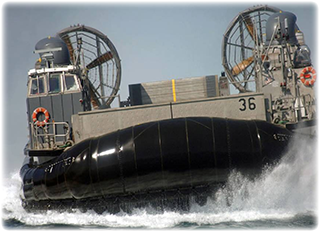Power Dozer is transportable by Landing Craft Air Cushion